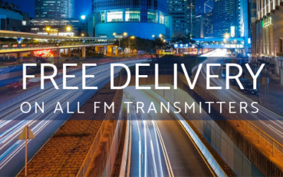 Free Delivery worldwide on all FM Transmitters