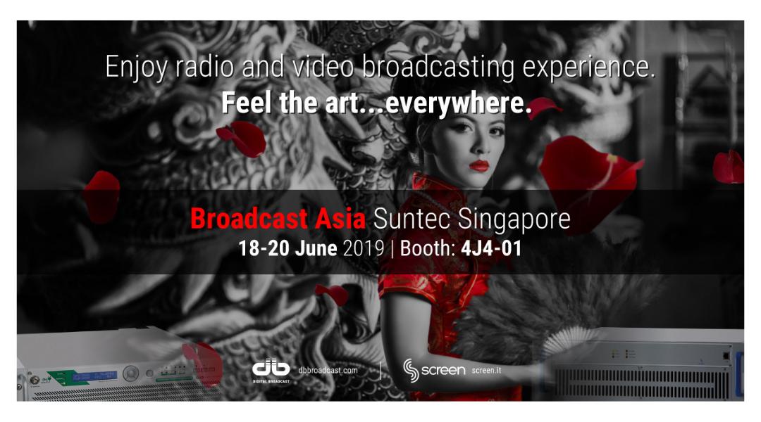 Ti aspettiamo a Broadcast Asia 2019!