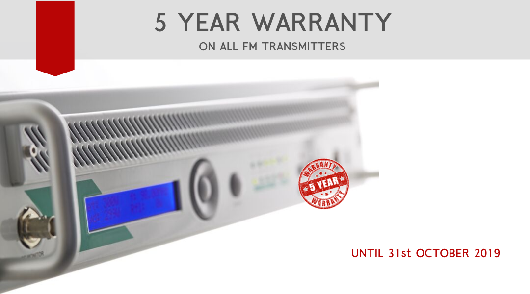Limited time offer: 5 year warranty